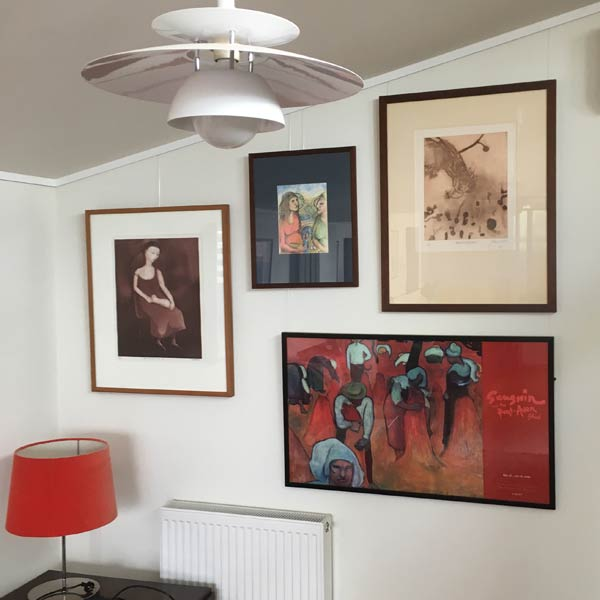 Picture Hanging System installed by Ellis Art Installation.
